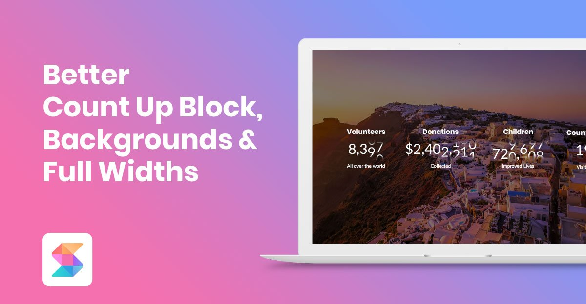 Better Count Up Block, Backgrounds & Full Widths