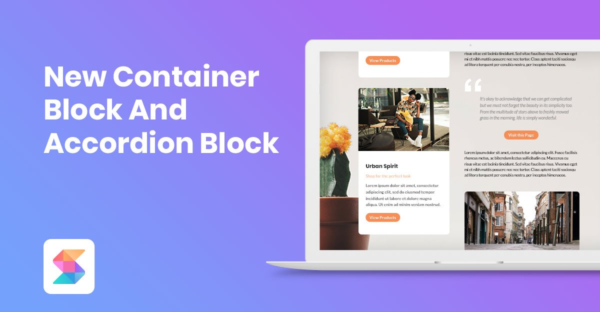 The Container Block and Accordion Block