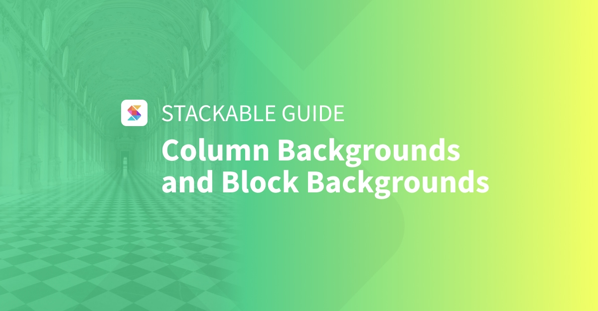 Column Backgrounds and Block Backgrounds