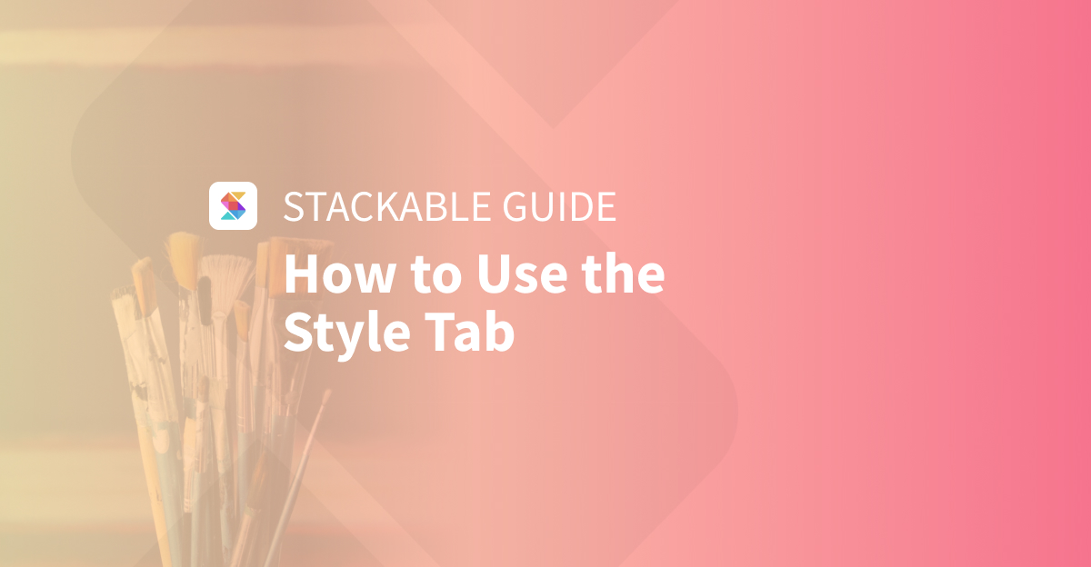 How to Use the Style Tab