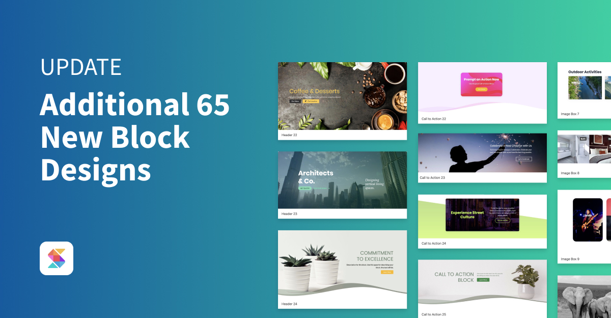 Additional 65 New Block Designs