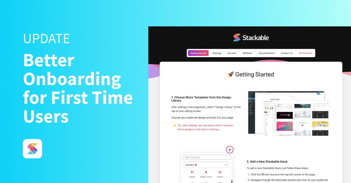 Better Onboarding for First Time Users