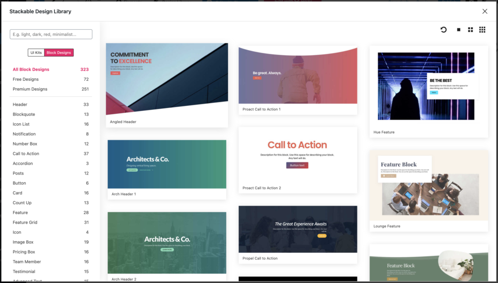 Revamped Design Library