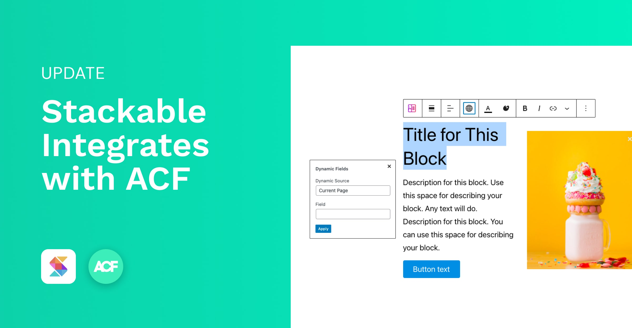 Stackable Integrates with ACF