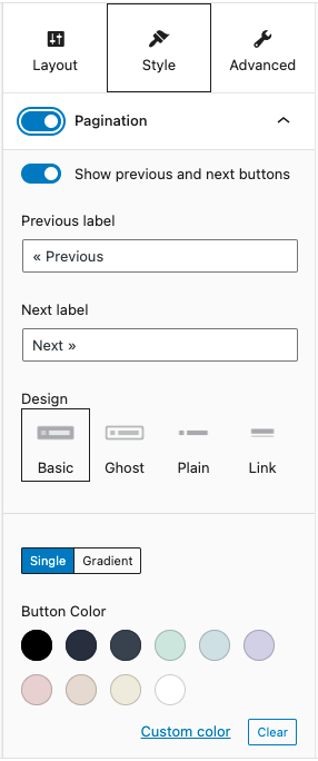 Pagination customization options in the new Stackable update