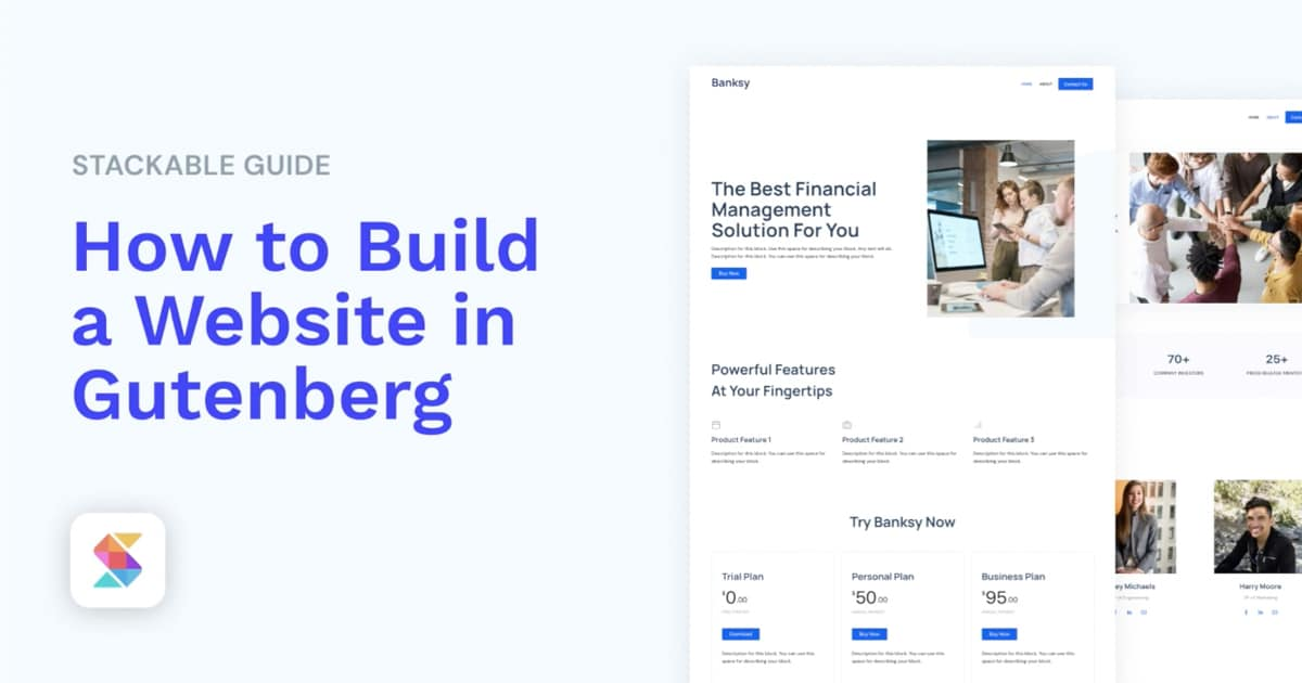 How to Build a Website with Stackable Page Builder Gutenberg Blocks